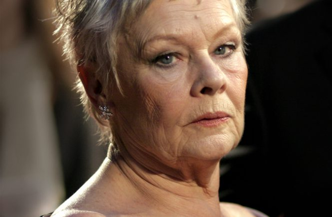 Actress Dame Judi Dench arrives at The Orange British Academy Film Awards at the Royal Opera House on February 11